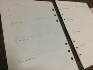 マークス システム手帳 リフィル