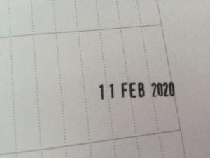 日付スタンプ 英語 月